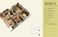 Bán gấp căn 04 V3 diện tích 95,68m2, chung cư Home City, 3pn, miễn phí 3 năm phí dịch vụ giá 32,5tr