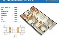 Bán chung cư Golden West Lê Văn Thiêm căn C7 DT 92m2 giá 28,5tr/m2 LH: 0989094625