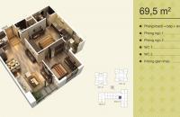 0989094625! Bán nhanh căn 18 tòa V3 CC Home City DT=69,5m2 2PN, 2VS view trung kính