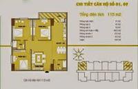 Bán căn chung cư C37 bộ công an, Cửa  đông nam83,8m2