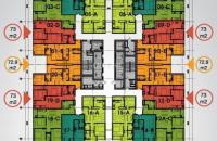 Cho thuê căn hộ 75m2, 81m2 giá 5 triệu/tháng tại chung cư The Pride – CĐT Hải Phát. SĐT 0967.506.216