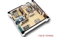 Bán căn số 03 chung cư d2ct2 linh đàm. S=92.55 m2.