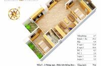 84m2, tòa T2 chung cư C37 Bắc Hà, căn 06, giá 26tr/m2