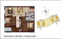 Bán suất ngoại giao căn 06tòa B1 CT2 chung cư Tây Nam Linh Đàm, 67,4m2 giá rẻ tầng 5.