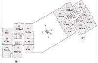 Mở bán toàn bộ tầng 4 B2 CT2 Tây Nam Linh Đàm với nhiều căn hộ đẹp, H: ĐN, loại 2PN, 67m2-67,4m2