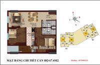 Bán suất ngoại giao 06 tầng 12 B1 CT2 Tây Nam Linh Đàm diện tích: 67,4m2