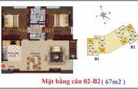 Chung cư B1 B2 CT2 Tây Nam Linh Đàm bán căn phòng ngủ diện tích 67m2