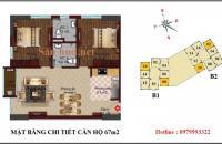Mở bán chung cư thương mại B1 B2 CT2 Tây Nam Linh Đàm với căn hộ 2 phòng ngủ