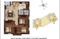Chính chủ mở bán căn hộ 10 B1 CT2 Tây Nam Linh Đàm diện tích 100,87m2 hướng Đông Nam