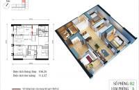Bán gấp căn 02, tòa CT4 chung cư Eco Green: DT 106.26 m2, 3PN, cửa ĐB. LH 0968.099.693