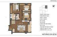 Cần bán lại căn hộ B4 Hong Kong Tower 104m2, 3 phòng ngủ, tại Đống Đa