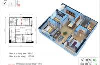 Chính chủ cần bán căn 06 tòa CT4 chung cư Eco Green: 93,82 m2, 3PN. Ban công ĐN