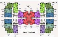 Bán căn góc 3PN chung cư Helios 75 Tam Trinh: Căn 08= 98,5m2, cửa hướng Nam, giá 23tr/m2.