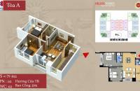 Chính chủ cần bán căn hộ chung cư 75 Tam Trinh, căn 07, tầng 16, tòa A, DT 79m2, giá 23tr/m2