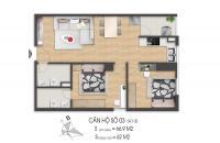 Bán căn hộ chung cư 63m2 chỉ với 790 triệu tại khu đô thị mới Tân Tây Đô