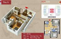 Chính chủ bán căn 75 Tam Trinh, DT 68m2, căn 12, 2PN, 2WC, giá bán 23.2tr/m2. (0904729210)