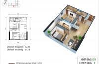 Cần bán chung cư Eco Green City, Nguyễn Xiển, căn 09, diện tích 67,09m2, giá bán bằng giá gốc