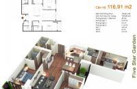 Bán gấp căn góc đẹp nhất tòa căn 10 tầng 15 diện tích 116.91 m2, Five Star – Kim Giang