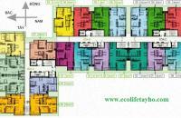 Bán căn hộ B06 CC Ecolife Tây Hồ, Tầng 15, DT 102m2, cửa Tây giá bán 25tr/m2. LH 0944952552