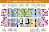 Tôi cần bán gấp căn 910, CC CT1A Nghĩa Đô, DT 45,11m2 ban công ĐN, giá bán 25.6tr/m2