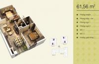 Bán căn hộ tòa V1 chung cư Home City, căn 07 diện tích 61,56m2, 2 phòng ngủ, 30.1tr/m2