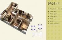 Chính chủ bán căn góc 97,64m2 tòa V1 chung cư Home City Trung Kính, giá 30,5tr/m2