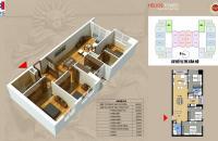 (0981 017 215) chính chủ bán căn 2008 Helios 75 Tam Trinh, 3 PN 98.5m2 vào ở luôn. Giá 25tr/m2