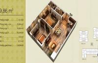 Cần nhượng lại căn 01 tòa V3 chung cư Home City, 69.86m2, 2PN, giá: 30,3tr/m2, LH: 0941244723