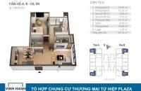 Tứ Hiệp Plaza - Cần bán căn 2 phòng ngủ - Giá 16,8tr/m2 - 0919531285
