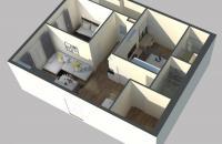 Bán căn hộ 2PN giá 23tr/m2 khu vực Giải Phóng - Smile Building view 3 mặt hồ
