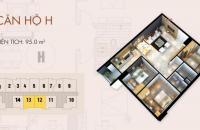 Bán gấp căn hộ C37 Bộ Công An 95m2, Đông Nam, giá 26 tr/m2
