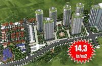 Căn hộ 2 phòng ngủ Mipec Kiến Hưng, Hà Đông, chỉ 800tr/căn đủ nội thất
