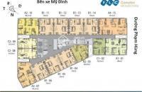 Cần bán căn hộ chung cư FLC Complex 36 Phạm Hùng căn tầng 1606 DT: 70m2 giá: 26tr/m2