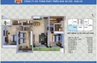 Bán căn hộ thuộc chung cư CT2A1 Tây Nam Linh Đàm. Gía: 21.5tr/m2