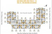 Bán căn hộ 2PN, 69.2 m2, 1.02 tỷ The Golden An Khánh, nhà sạch, view đẹp, phong thủy tốt