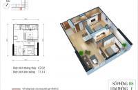 Bán căn hộ chung cư Eco Green City, 67,02m2 căn 08 Ruby4, giá rẻ 1,8 tỷ