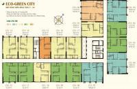 Sắp nhận nhà, bán gấp căn hộ chung cư Eco Green City, căn 8.10 tòa CT4, 75,39m2, 2pn, ban công ĐN
