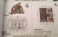 Chỉ với 120 triệu có ngay căn penthouse 2 phòng ngủ, chung cư Thanh Hà Cienco 5