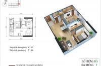 Cần bán căn 05, tầng 15, tòa CT4 chung cư Eco Green City, diện tích 67m2. Giá 1 tỷ 850 triệu