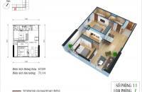 Chủ nhà 0963002881 căn 12-CT4 (DT=66.62m2) CC Eco-Green City, Nguyễn Xiển 2PN, 2VS cần nhượng gấp