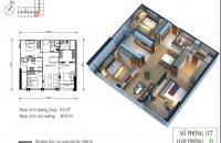 Bán căn góc ban công ĐN, tòa CT4 chung cư Eco Green City, căn 07, Dt 94,87 m2, 3pn, giá 26tr/m2