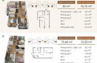 Bán căn hộ 2 phòng ngủ 76.76m2 chung cư Five Star Kim Giang, Thanh Xuân , Hà Nội