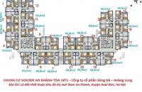 Bán CHCC Golden An Khánh tầng 1218 tòa 18T1 DT 69,6m2 giá bán 12tr/m2. LH 0986854978
