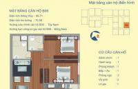 Chung cư 122 Vĩnh Tuy bán căn 66m2 thiết kế 2PN giá rẻ, LH 0902223710