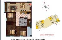 Bán cắt lỗ căn hộ 1506 tòa B2 96.15m2, ban công Đông Nam