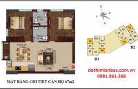 Bán căn hộ 908 67m2 tòa B1 chung cư B1-B2 Tây Nam Linh Đàm