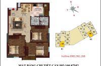 Bán gấp căn hộ 3PN tầng 15, diện tích 100.87m2 chung cư B1B2 Tây Nam Linh Đàm, LH 0981.961.268