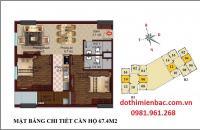 Bán gấp căn hộ diện tích 67.4m2, tầng 11, thiết kế 2PN rất đẹp, tòa chung cư B1B2 Tây Nam Linh Đàm