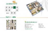 Bán quỹ căn 2 phòng ngủ 74m2 chung cư An Bình City – Khu đô thị Thành Phố Giao Lưu. LH 0936.333.531