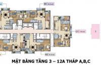 Bán căn hộ chung cư Báo Nhân dân Xuân Phương Tasco, căn tầng 1203 DT: 81.8m2, giá bán: 18tr/m2
